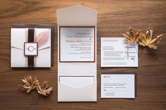 Oh So Beautiful Paper: Sarah + Matthew's Rustic Letterpress Wedding Invitations