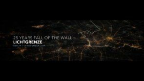 Lichtgrenze - a light art project for the 25 years fall of the wall memorial November 2014