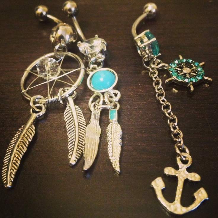 My belly button rings for summer :)