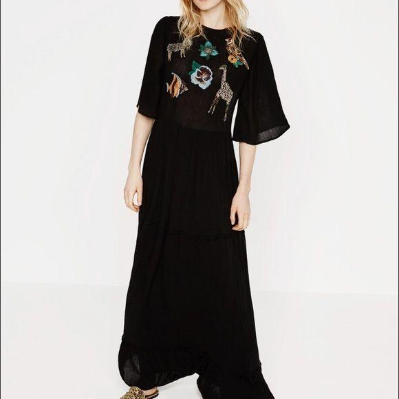 Zara Dresses - Zara Animal Maxi Dress