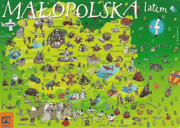 Map of Lesser Poland in Summer Time #polishtrails