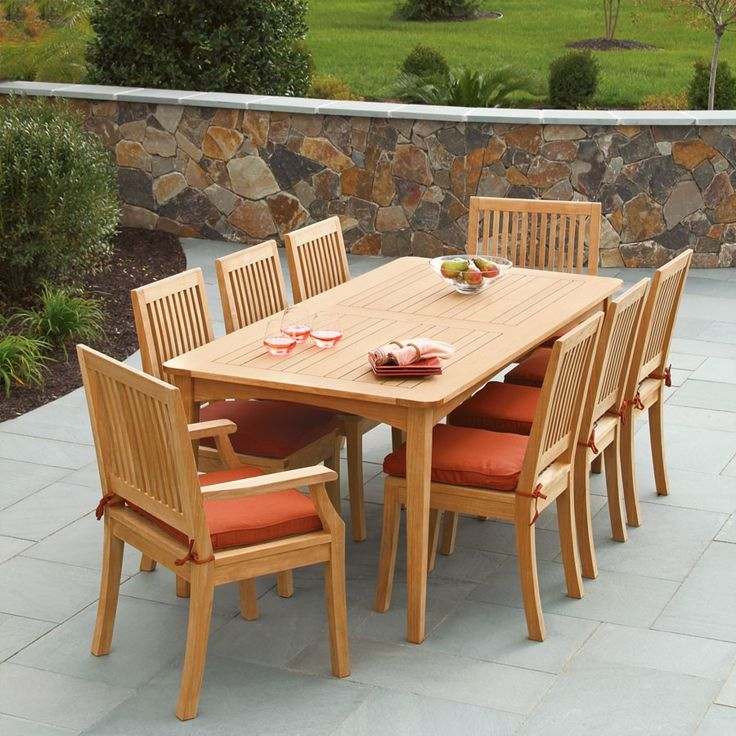 Elegant Outdoor Dining With The Melbourne Table And Foxhall Dining Chairs