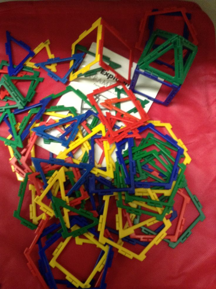 """513.2 P38 """"getting Started with Patter Blocks""""  A small kit of manipulatives for early learning age students to support math concepts: shapes, colours as well as patterns, designs, and symmetry, classification, data collection/management, problem solving. Includes 1 teacher's guide (30 p.), 250 pattern blocks, 2 --8"""" x 6"""" mirrors, and 1 pattern block template in container. Available for borrowing as well as lots of support material."""