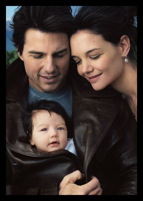 Tom, Suri Cruise and Katie Holmes. one of the most adorable pictures ever taken