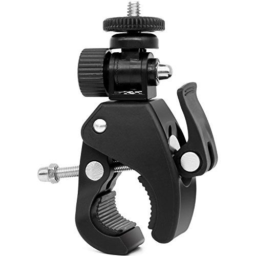 """Camera Super Clamp Quick Release Pipe Bar Clamp Pipe Bike Clamp w/ 1/4""""-20 Threaded Head for DSLR Camera/DV/Ipad/Monitor,for Ipad Mount/ Music Stands/ Microphone Stands/ Motorcycle/ Bike - Large Size"""