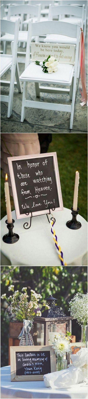 honor deceased loved ones wedding ideas