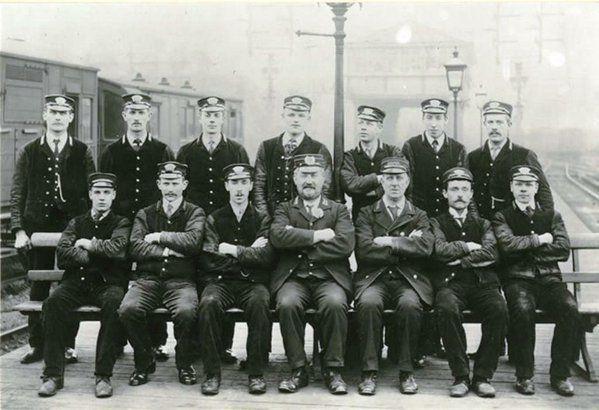 London Bridge Railway Station Staff photograph c. 1900  courtesy @GreatestCapital Twitter.