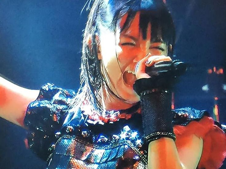 BABYMETAL ドキモ サマソニ2015 TV screen shooting #babymetal #sumetal #summersonic2015