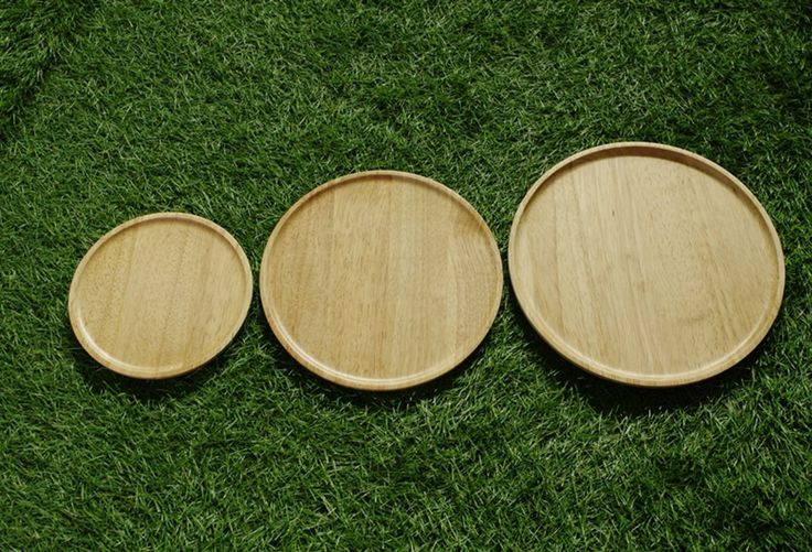 Amazon.co.jp : 【正規輸入品】 ACACIA ウッドプレート WOODEN PLATE ROUND Natural AA--016NT : ホーム&キッチン