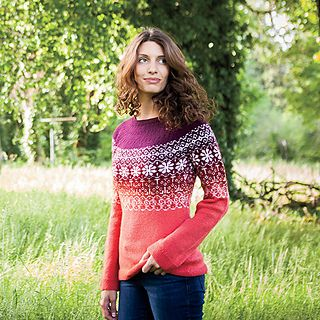 This gorgeous gradient sweater has modern shaping with a classic fair isle design. You'll happily knit - and wear - this striking sweater!