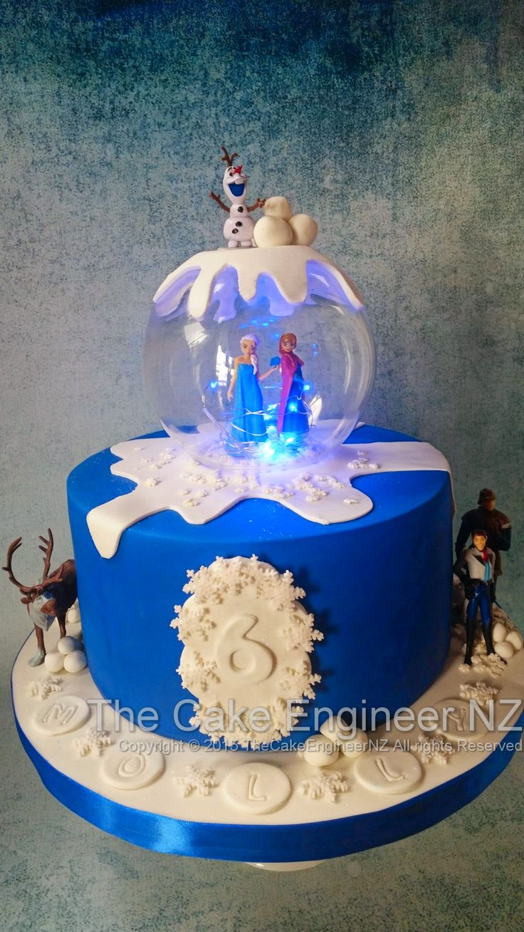 Frozen cake with lights :)
