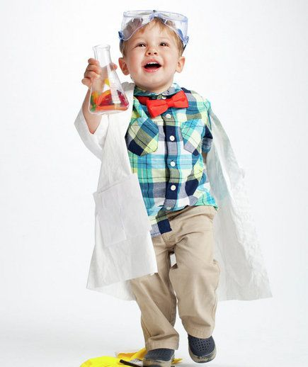 Mad Scientist | Dress up your kids in fun costumes you make with everyday household items.