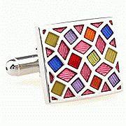Мода ювелирных изделий красочные Cut площадь кристалла двойной манжеты мужской счастливый дар кнопка рубашка , чтобы муж