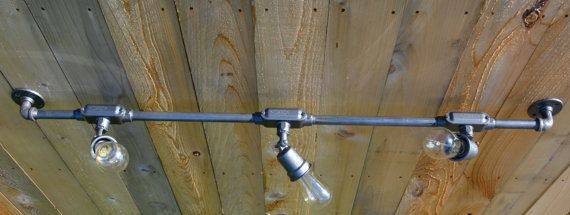 Industrial Track Lighting by RecycledSavvy on Etsy