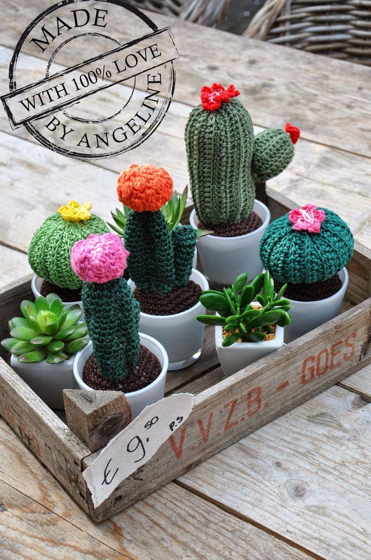 Crochet cactus/gehaakte cactus