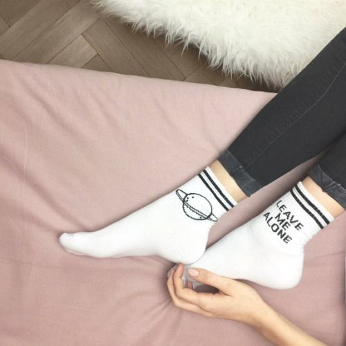 thebohoboutique:    Space Socks - Leave me alone //   YeahBunny