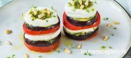 Mozzarella torentje met groenten