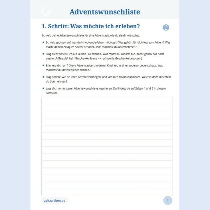 Mach dir mit dieser Adventswunschliste bewusst, was dir für deine Adventszeit besonders wichtig ist. Für eine unvergesslich schöne Adventszeit.