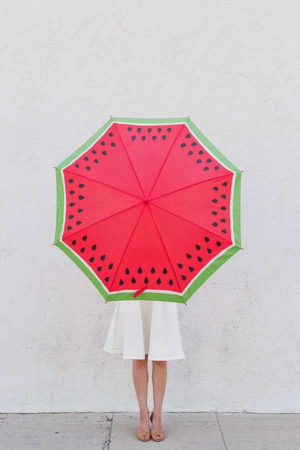 DIY Watermelon Umbrella Tutorial