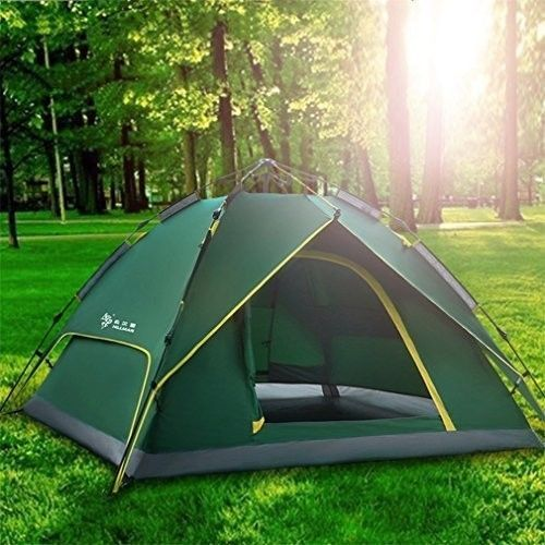 Family Camping Tent Picnic Outdoors Canopy Green 2-3 Person Tunnel Dome Pop Up #FamilyCampingTent