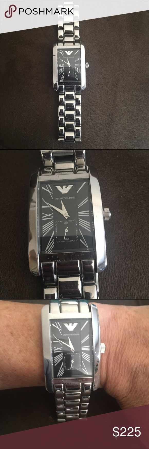 Emporio Armani Mens Watch Emporio Armani Mens Stainless Steel Watch. VERY NICE Emporio Armani Accessories Watches