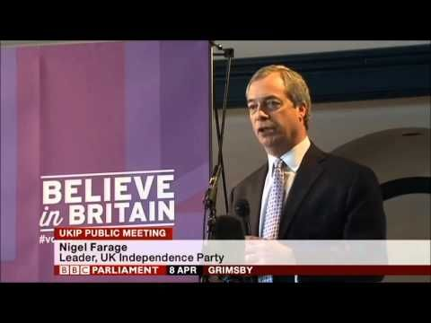 Tony Blair can go to Hell! Nigel Farage speech in Grimsby