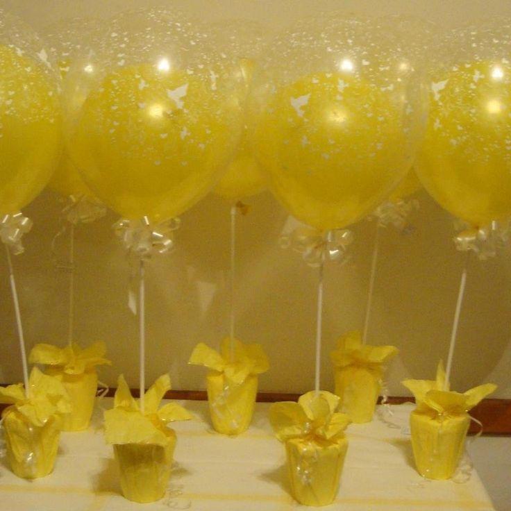 Centros de mesa con globos para comunión - Imagui