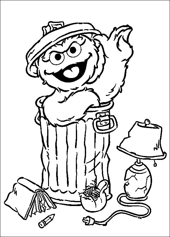 sesame street sign coloring pages - photo#12