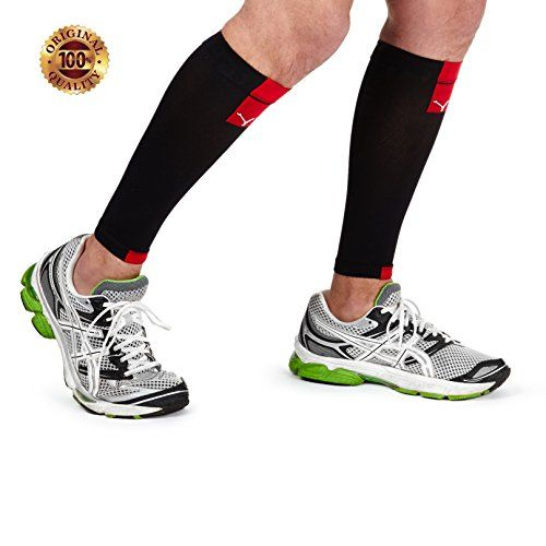 Calf Compression Sleeve Socks - Yorkberg Pair of Running Compression Socks For Men and Women- Size 1X (Small/Medium)