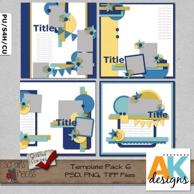 Template Pack 6  includes 4 (12x12) page templates that can be easily sized to 8x8 if you would like. My templates are PU/S4H/S4O/CU friendly. PSD, PNG and TIFF files are included.Scrapbook Kits, Scrapbook Sketches, Scrapbook Templates, Digital Scrapbook, Templates Pack, Scrapbook Layout, Ak Design, Piece Stores, Design Elements