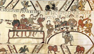 La Tapisserie de Bayeux : 70 mètres de long sur 50 centimètres de haut. Le repas…