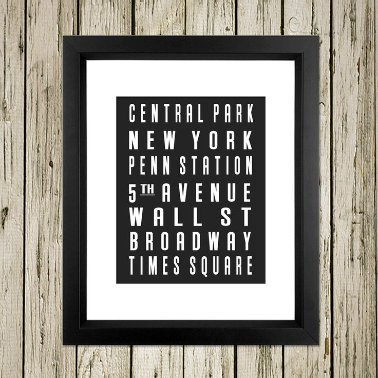 New york city subway sign printable instant download print for Home interiors new name