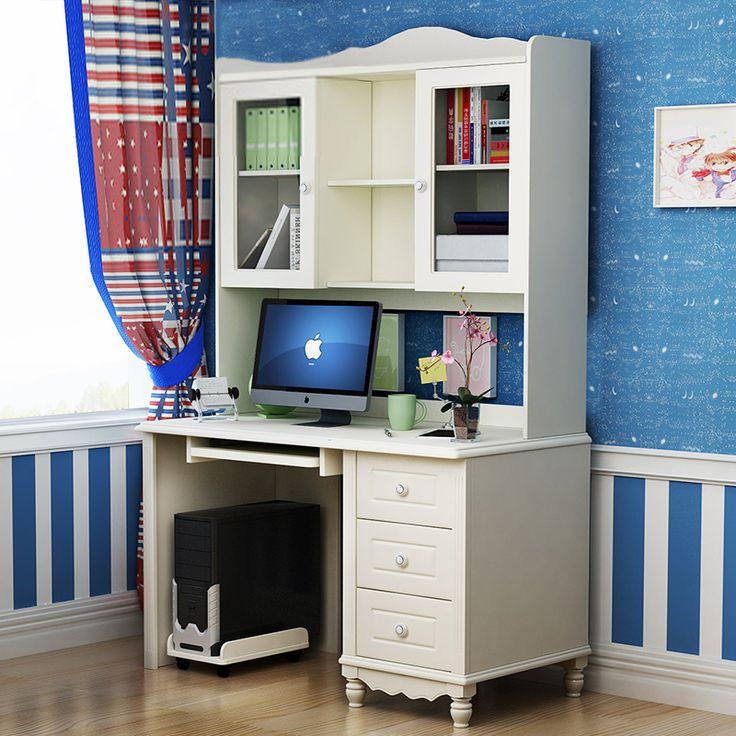 Белый детский многофункциональный стол для компьютера и книжными полками купить в интернет-каталоге мебели https://lafred.ru/catalog/catalog/detail/39072522175/