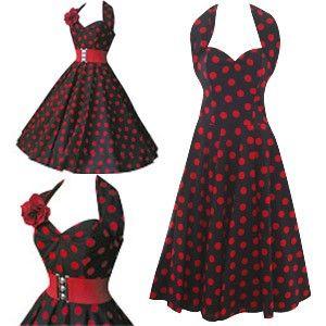 50s dress: Fashion, 1950S Halter, 1950S Style, Vintage 1950S, Christmas Dresses, 1950S Dresses, Dresses Ideas, Rockabilly Dresses, Halter Dresses