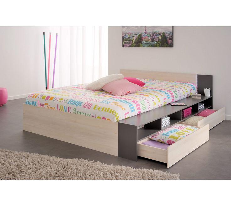lit adulte avec sommier et matelas interesting lit en chne massif avec sommier et matelas with. Black Bedroom Furniture Sets. Home Design Ideas