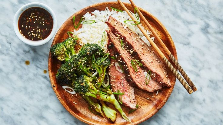 Grilled Beef with Broccoli Recipe | Bon Appetit