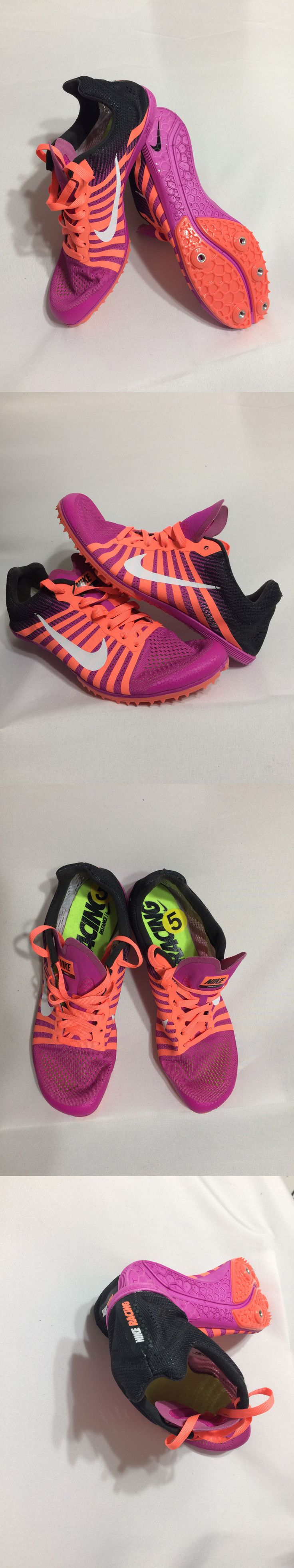 Track and Field 106981: Nike Zoom D Distance Size 5 Racing Track Spikes Fire Pink Purple Track Shoes -> BUY IT NOW ONLY: $32.99 on eBay!