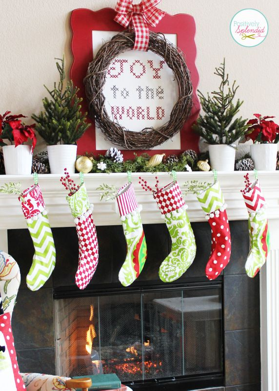 Traditional Christmas Mantel (Holiday Idea Exchange!):