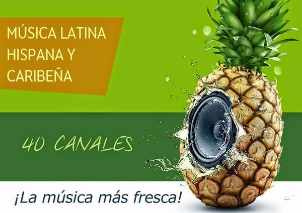 Frescaradio. 40 canales de música Latina, Hispana y Caribeña