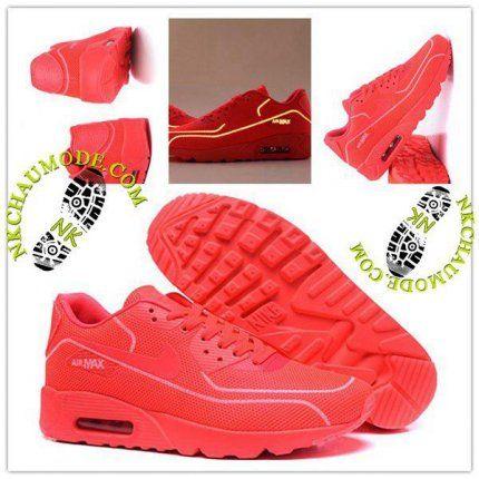 Tendance | Nike Chaussure Sport Air Max 90 2016 Femme Lumineux Luciole Rouge