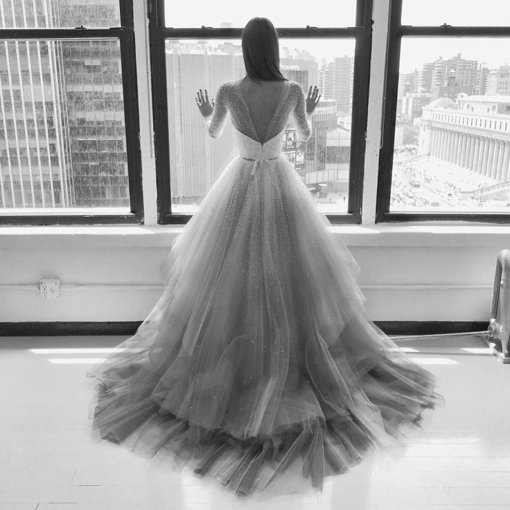 The Back of This Christian Siriano Wedding Dress Is Amazing via @WhoWhatWear