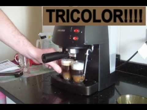 Cómo Hacer Café Tricolor en Cafetera Express Expreso Black and Decker EM...