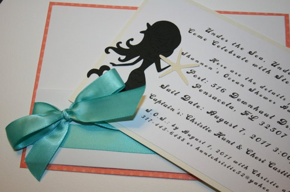 mermaid baby shower invitations baby shower pinterest mermaids