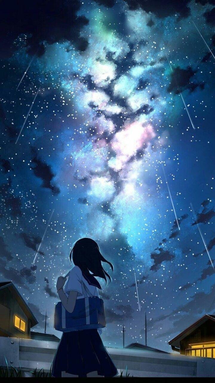 Aesthetic anime space wallpaper