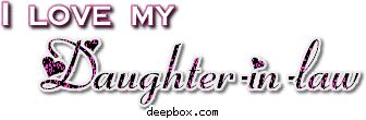 Quotes About Daughters In Law | love my daughter-in-law, I love my daughter-in-law Myspace Comment ...