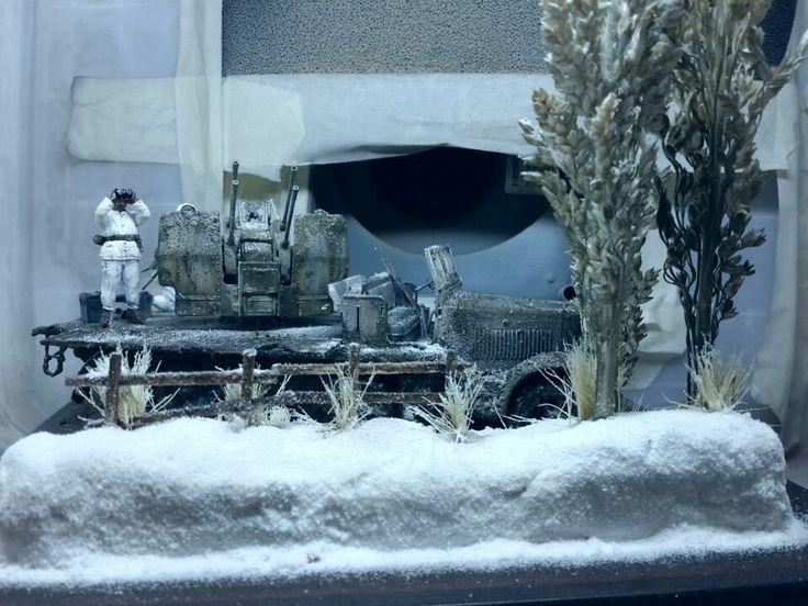 1/35 tamiya german halftrack + diorama