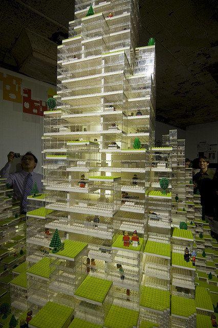 BIG's Storefront LEGO installation (Image via good.is)