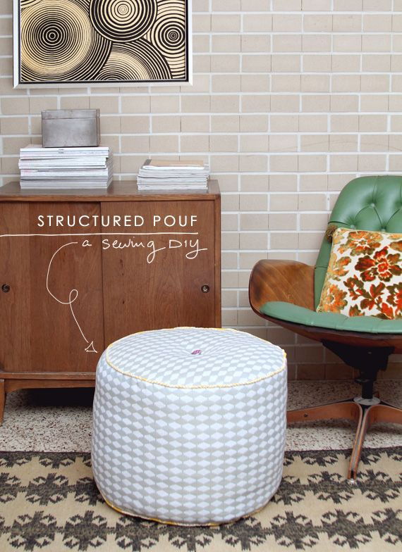 DIY Pouf-style ottoman | Making Nice in the Mdiwest