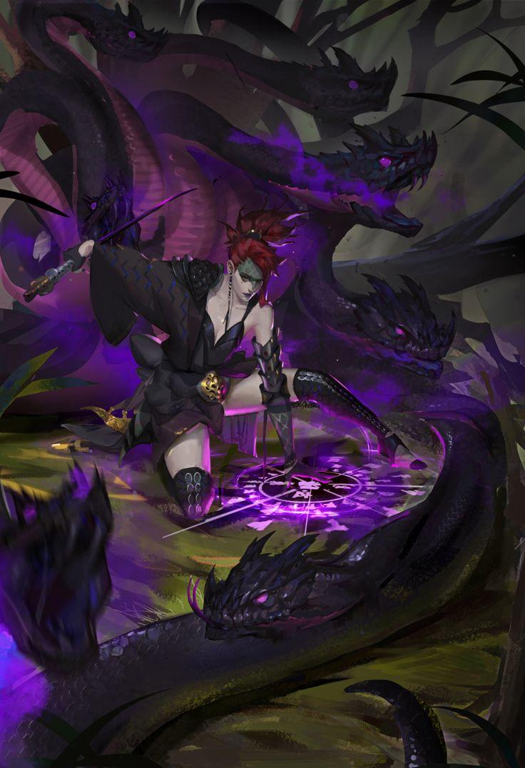ArtStation - Doujin Image of Snake Sisters, song jie