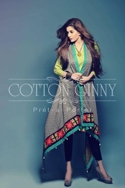 Cotton Ginny Latest Spring Summer Party Wear Collection 2014-2015 for Women